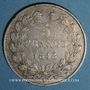 Coins Louis Philippe (1830-1848). 5 francs 1848 BB. Strasbourg