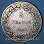 Coins Louis Philippe (1830-1848). 5 francs sans le I, tranche en relief 1830 A