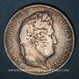 Coins Louis Philippe (1830-1848). 5 francs, tranche en relief, 1831 B. Rouen
