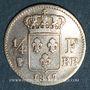 Coins Louis XVIII (1815-1824). 1/4 franc 1817 BB. Strasbourg