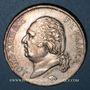 Coins Louis XVIII (1815-1824). 5 francs buste nu 1821 W. Lille