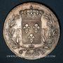 Coins Louis XVIII (1815-1824). 5 francs buste nu 1823 D. Lyon
