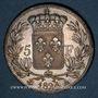 Coins Louis XVIII (1815-1824). 5 francs buste nu 1824 A