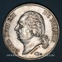 Coins Louis XVIII (1815-1824). 5 francs buste nu 1824 MA. Marseille