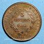 Coins Napoléon II (1811-1832). 3 centimes 1816. Essai. Bronze