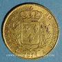 Coins 1ère restauration. 20 francs buste habillé 1814 A. (PTL 900‰. 6,45 g). Type avec 4 long