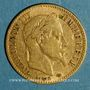 Coins 2e empire (1852-1870). 10 francs Napoléon III tête laurée 1862 A. (PTL 900‰. 3,22 g)