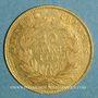 Coins 2e empire (1852-1870). 10 francs tête nue 1859 A, grand module. (PTL 900‰. 3,22 g)