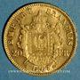 Coins 2e empire (1852-1870). 20 francs Napoléon III tête laurée 1867 A. (PTL 900‰. 6,45 g)