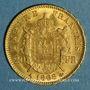 Coins 2e empire (1852-1870). 20 francs Napoléon III tête laurée 1868 A. (PTL 900‰. 6,45 g)