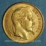 Coins 2e empire (1852-1870). 20 francs Napoléon III tête laurée 1868 BB. Strasbourg. (PTL 900‰. 6,45 g)