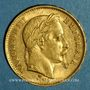 Coins 2e empire (1852-1870). 20 francs Napoléon III tête laurée 1869 A. (PTL 900‰. 6,45 g)