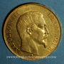 Coins 2e empire (1852-1870). 50 francs Napoléon III tête nue 1858 BB. Strasbourg. (PTL 900‰. 16,12 g)