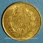 Coins 2e république (1848-1852). 20 francs Louis Bonaparte 1852 A. (PTL 900‰. 6,45 g)