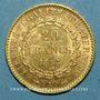 Coins 3e république (1870-1940). 20 francs Génie 1893 A. (PTL 900‰. 6,45 g)