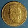 Coins Louis Philippe (1830-1848). 40 francs tête laurée 1837 A. (PTL 900‰. 12,90 g)