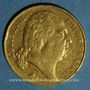 Coins Louis XVIII (1815-1824). 20 francs buste nu 1816 Q. Perpignan. (PTL 900‰. 6,45 g)