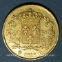 Coins Louis XVIII (1815-1824). 40 francs buste nu 1816 Q. Perpignan. (PTL 900‰. 12,90 g)