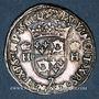 Coins Charles IX (1560-74). Monnayage au nom de Henri II. Teston du Dauphiné 1561 Z et rose. Grenoble