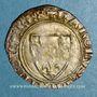 Coins Charles VI (1380-1422). Blanc dit Guénar à l'O rond, 2e émission (1389). Romans