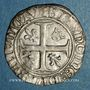 Coins Charles VI (1380-1422). Blanc guénar à l'O rond, 2e émission (1389). Saint-Lô