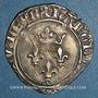 Coins Charles VI (1380-1422). Monnayage du dauphin Charles. Florette, 3e émission (1419). Romans