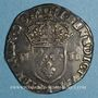 Coins Charles X, roi de la Ligue (1589-1590). 1/4 d'écu 1590 A et point 18e. Paris