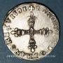 Coins Charles X, roi de la Ligue (1589-1590). 1/4 d'écu 1591 A et point 18e. Paris