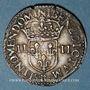 Coins Charles X, roi de la Ligue (1589-1590). 1/4 d'écu 1591 B et point 15e. Rouen