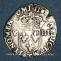Coins Charles X, roi de la Ligue (1589-1590). 1/8 d'écu 1596 T, point 5e et 17e. Nantes