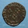 Coins Charles X, roi de la Ligue (1589-1590). Double tournois 1594 P. Dijon