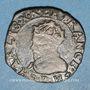 Coins Charles X, roi de la Ligue (1589-1590). Double tournois 1595 P. Dijon