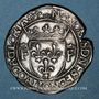 Coins François I (1515-1547). Teston (cf 13e type). Lyon (annelet 12e). Type inédit !
