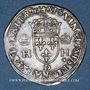 Coins Henri II (1547-1559). 1/2 teston, 1er type, 1552 D et point 12e. Lyon