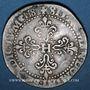 Coins Henri III (1574-1589). 1/2 franc au col légèrement dentelé 1587 A