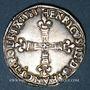 Coins Henri III (1574-1589). 1/4 d'écu 1583 C et point 19e. Saint-Lô