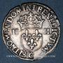 Coins Henri III (1574-1589). 1/4 d'écu 1586 C et point 19e. Saint-Lô