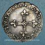 Coins Henri III (1574-1589). 1/4 écu 1587. Annelet 11e avers et revers. Rennes
