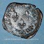 Coins Henri III (1574-1589). Double tournois 1584 T (point 5e). Nantes