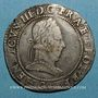 Coins Henri III (1574-1589). Franc d'argent au col plat 1578 G. Poitiers