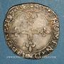 Coins Henri III (1574-1589). Monnayage au nom de Charles IX. Double sol parisis illégal. 1574 N et point 4