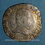 Coins Henri III (1575-1589). 1/2 franc au col plat 1587 H. La Rochelle
