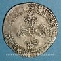 Coins Henri III (1575-1589). 1/2 franc au col plat 1588 B. Rouen