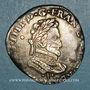 Coins Henri IV (1589-1610). 1/2 franc 1591 I et point 10e. Limoges