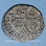 Coins Louis XIII (1610-1643). Douzain illégal émis par les Huguenots. Refrappé sur un double tournois