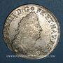 Coins Louis XIV (1643-1715). 1/2 écu aux palmes 1695 X. Amiens. Réformation