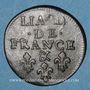 Coins Louis XIV (1643-1715). Liard de France au buste âgé, 3e type, 1699 &. Aix. Avec soleil
