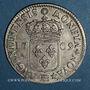 Coins Louis XIV (1643-1715). Monnayage particulier de Strasbourg. 44 sols de Strasbourg 1709 BB