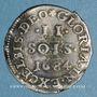 Coins Louis XIV (1643-1715). Monnayage particulier de Strasbourg. II sols de Strasbourg 1684