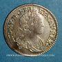 Coins Louis XV (1715-1774). 1/10 écu de France-Navarre 1718 BB. Strasbourg